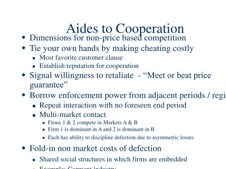 Aides to Cooperation