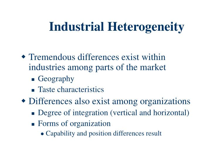 Industrial Heterogeneity