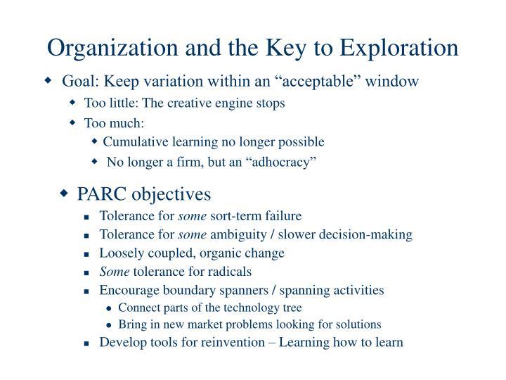 PARC objectives