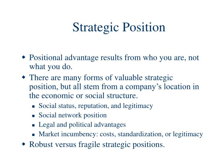 Strategic Position