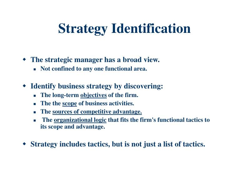 Strategy Identification