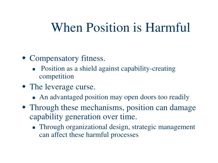 When Position is Harmful