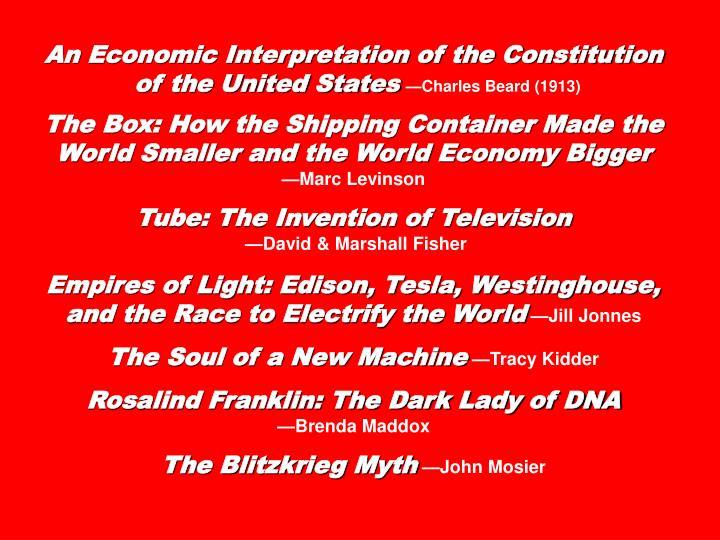An Economic Interpretation of the Constitution