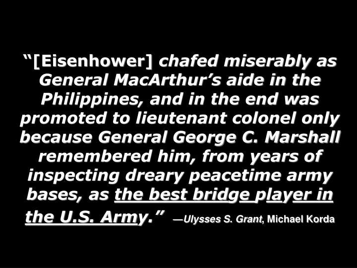 """[Eisenhower]"