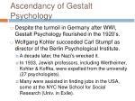 ascendancy of gestalt psychology