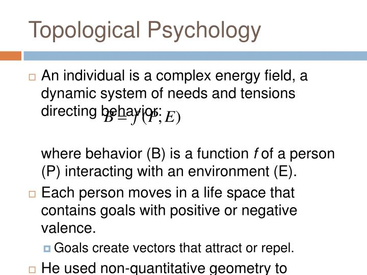Topological Psychology