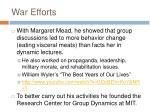war efforts