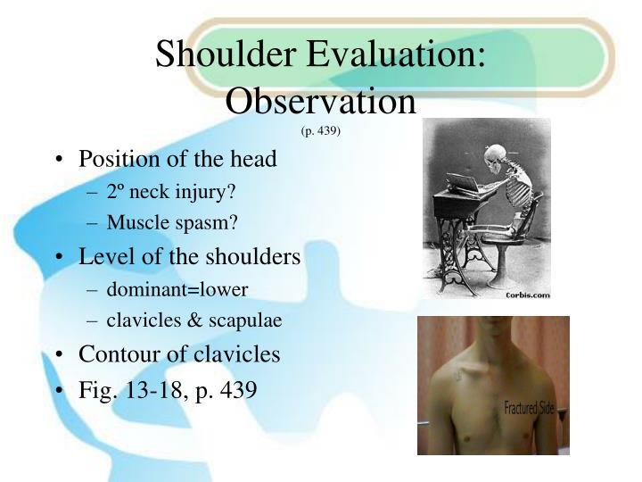 Shoulder Evaluation:  Observation