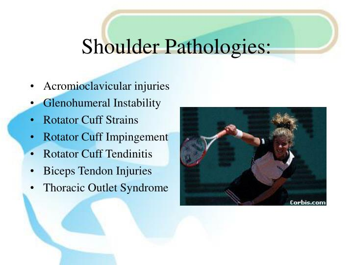 Shoulder Pathologies: