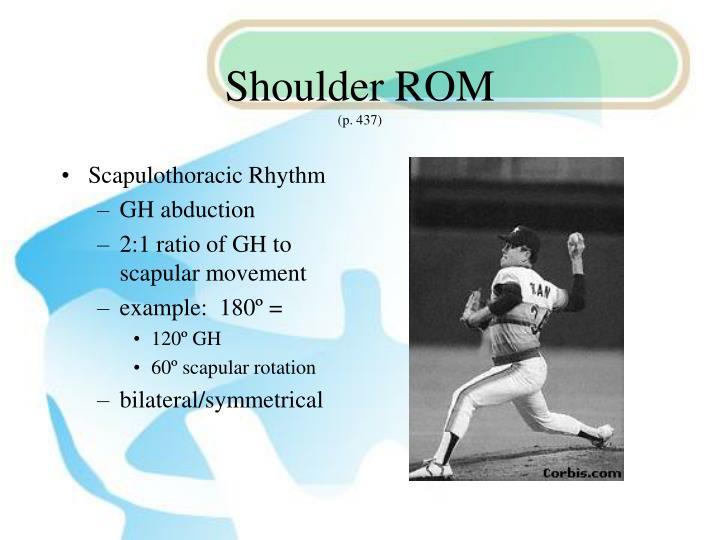Shoulder ROM
