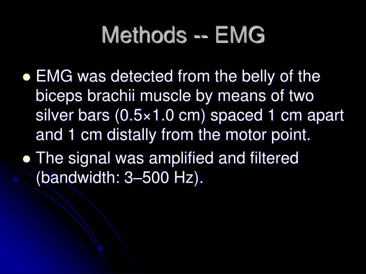 Methods -- EMG
