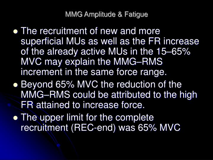 MMG Amplitude & Fatigue