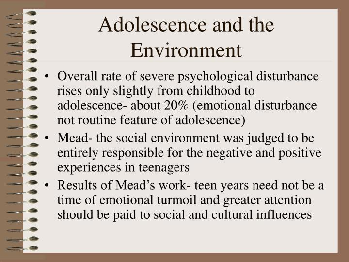 Adolescence and the environment