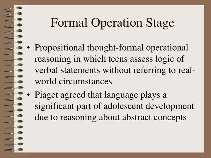 Formal Operation Stage