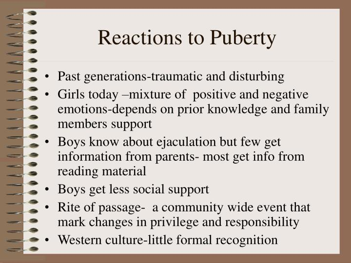 Reactions to Puberty
