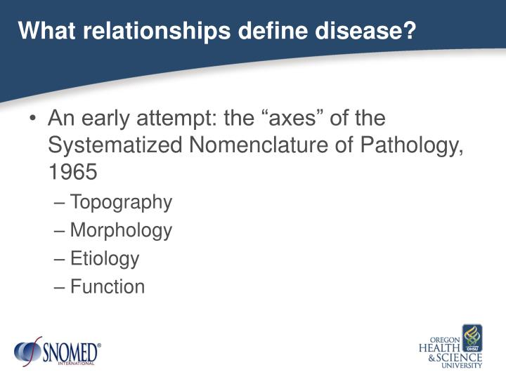 What relationships define disease?