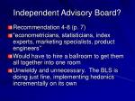 independent advisory board