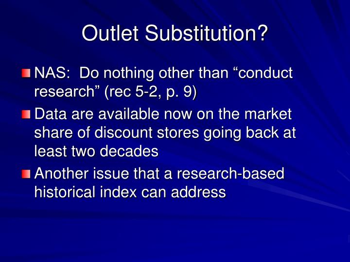 Outlet Substitution?