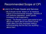 recommended scope of cpi