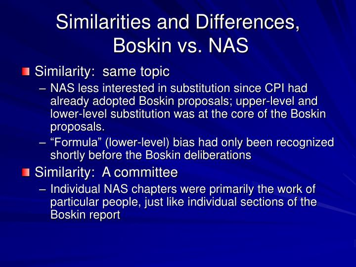 Similarities and Differences,