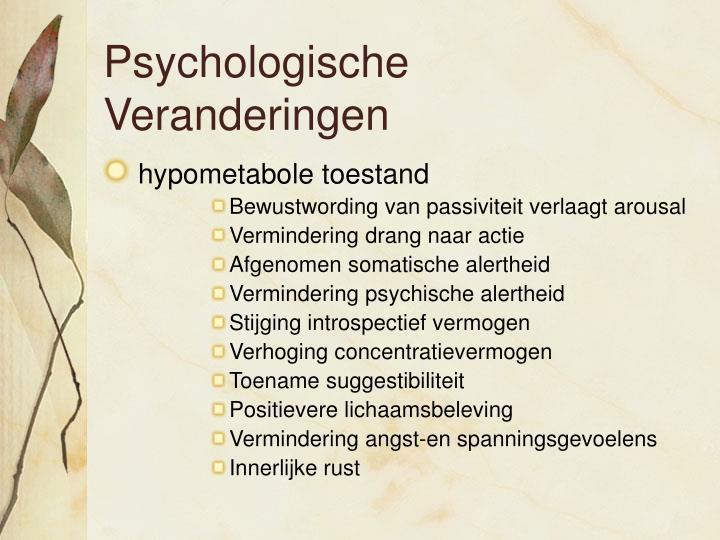 Psychologische Veranderingen
