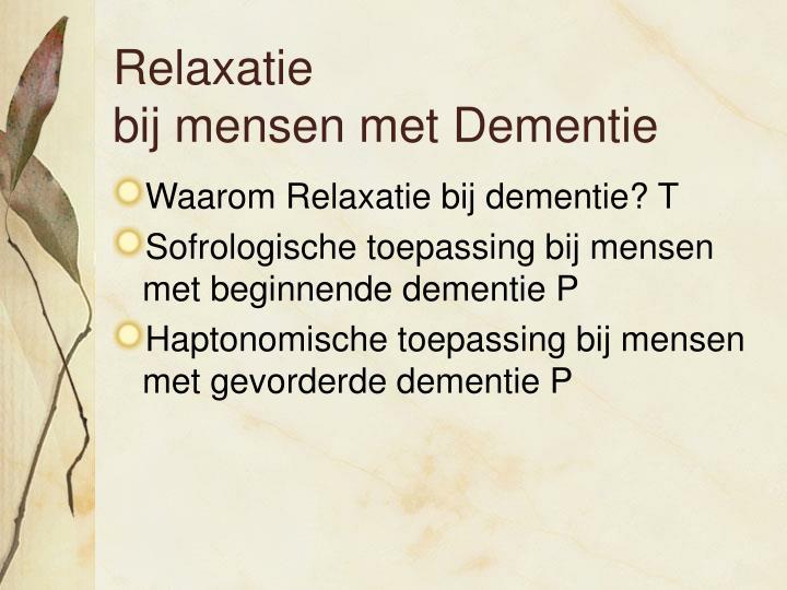 Relaxatie