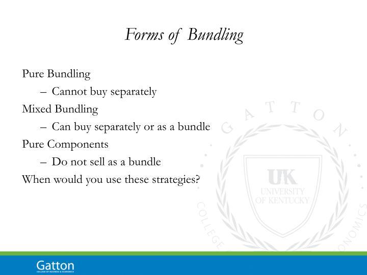 Forms of Bundling
