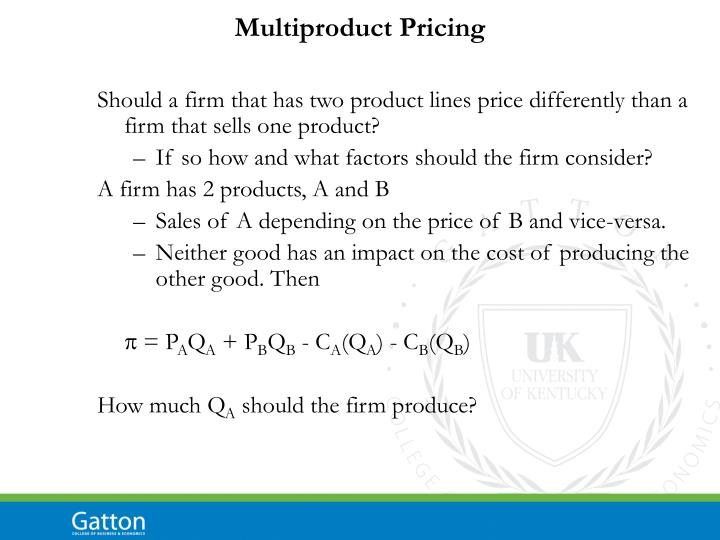 Multiproduct Pricing