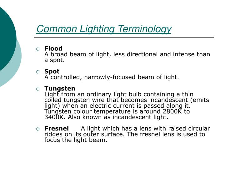 Common Lighting Terminology
