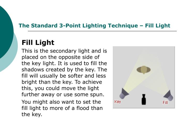 The Standard 3-Point Lighting Technique – Fill Light