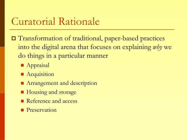 Curatorial Rationale