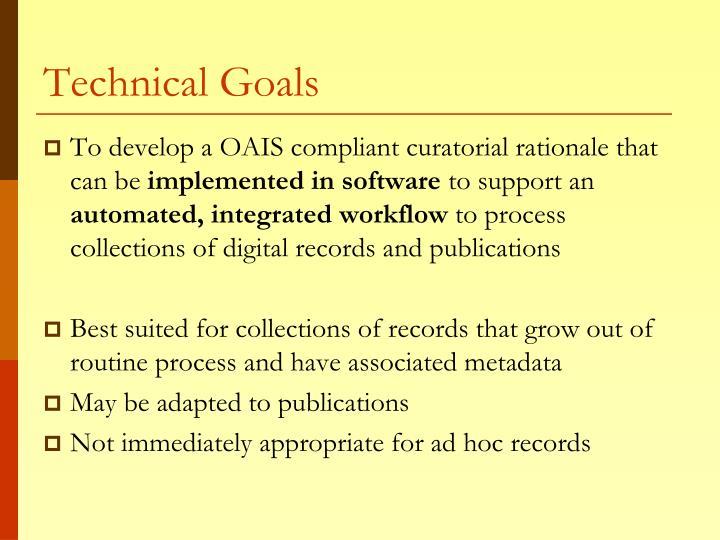 Technical Goals