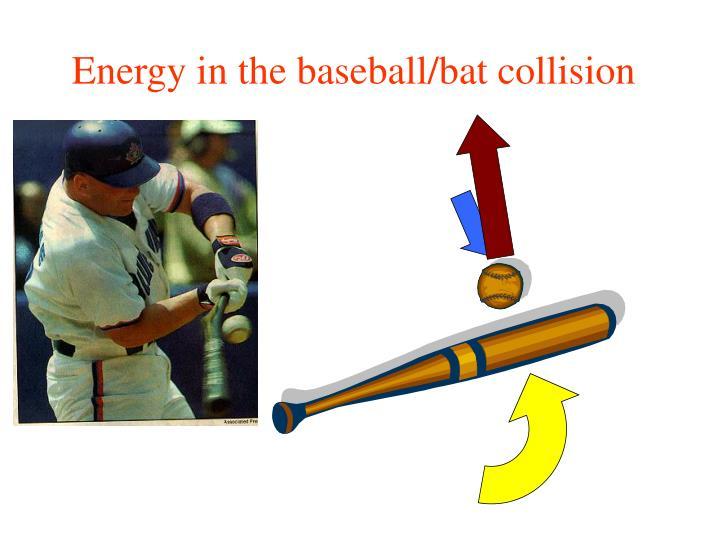 Energy in the baseball/bat collision
