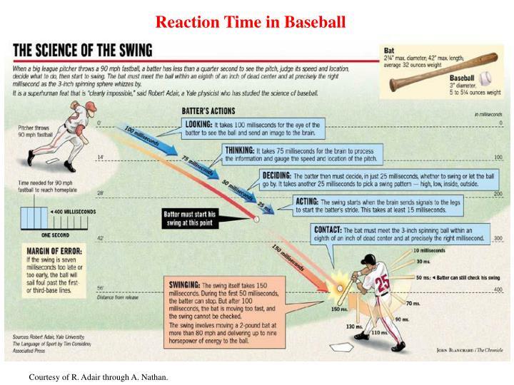 Reaction Time in Baseball