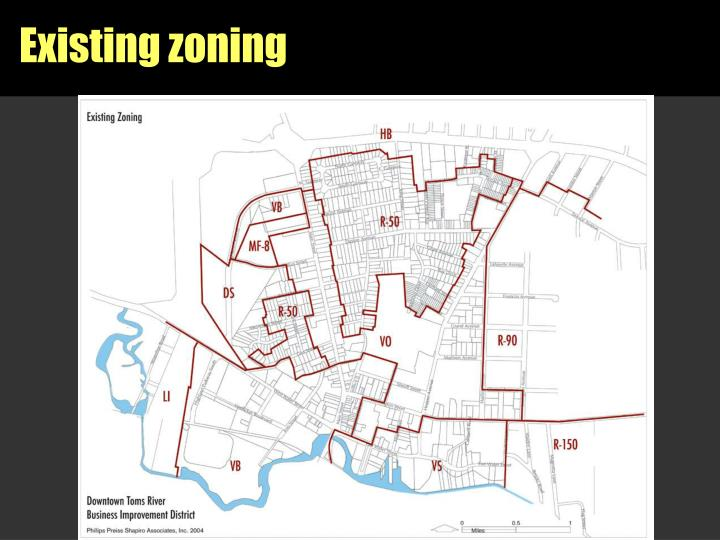 Existing zoning