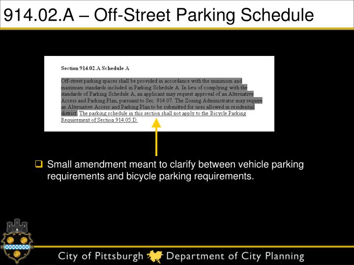 914 02 a off street parking schedule