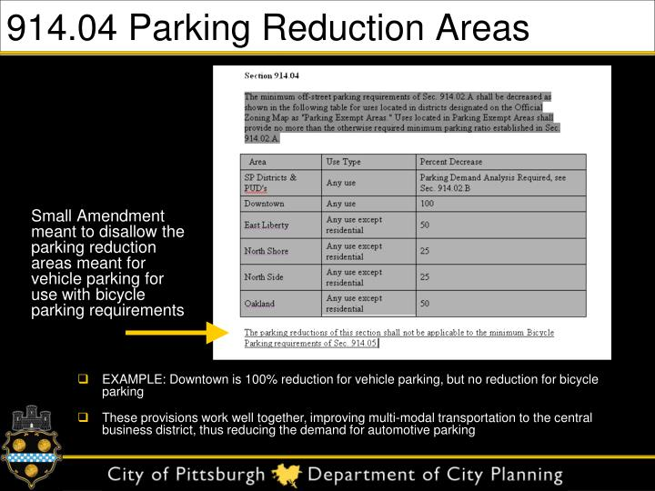 914.04 Parking Reduction Areas