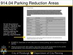 914 04 parking reduction areas