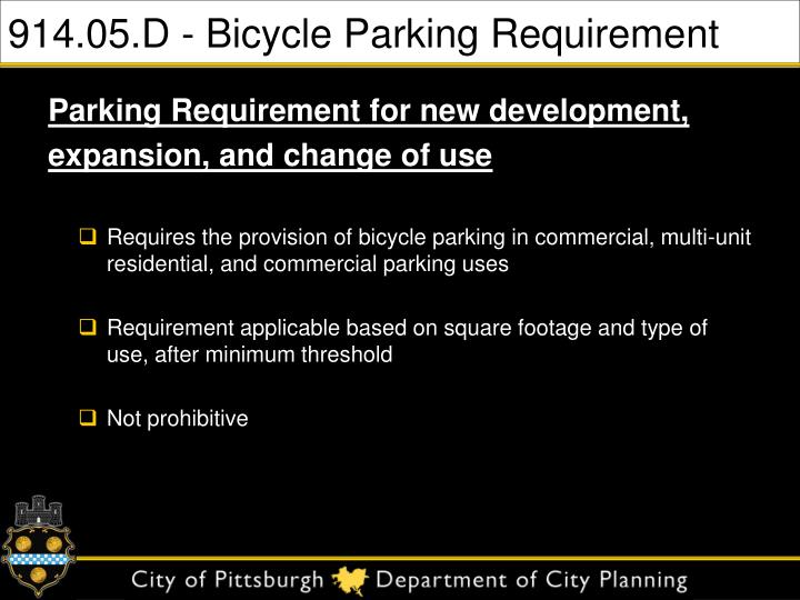 914.05.D - Bicycle Parking Requirement