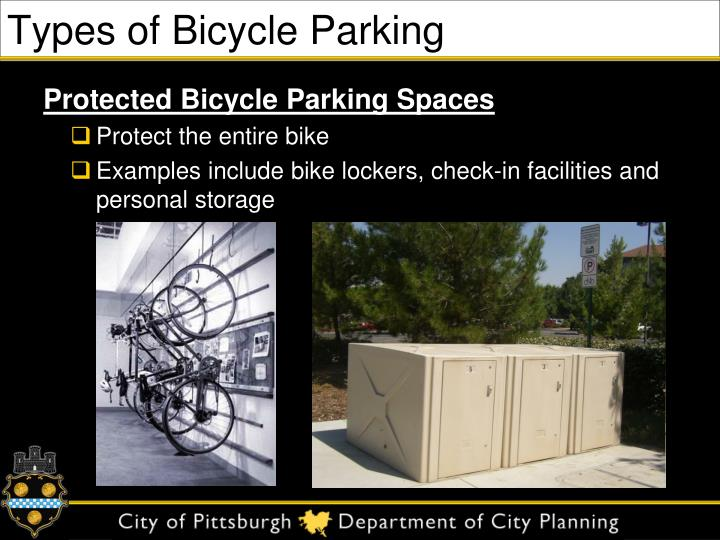 Types of Bicycle Parking