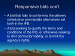 responsive bids con t