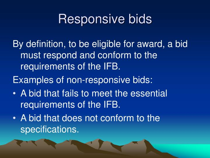 Responsive bids