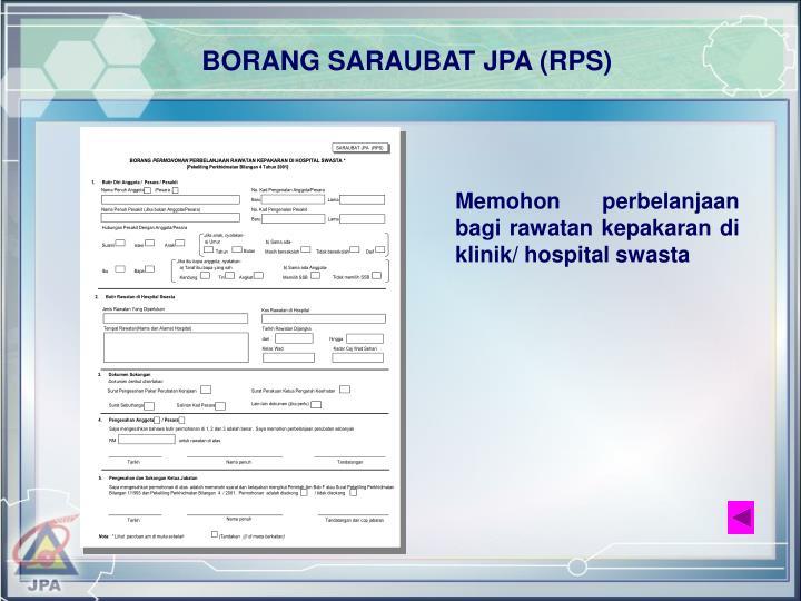BORANG SARAUBAT JPA (RPS)