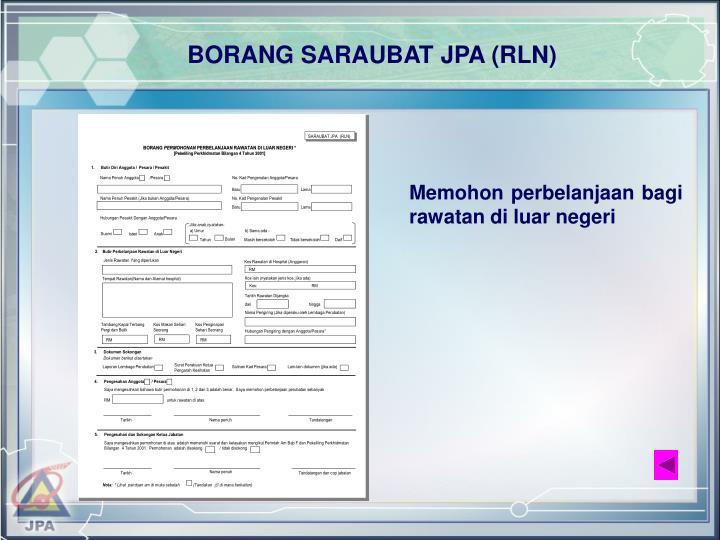 BORANG SARAUBAT JPA (RLN)