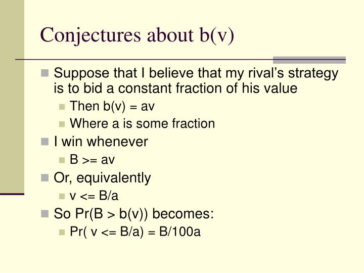 Conjectures about b(v)