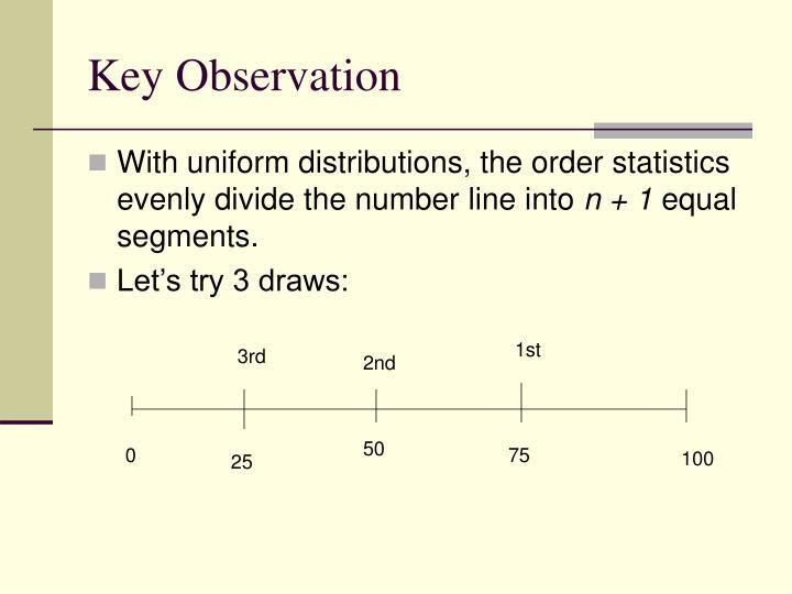 Key Observation
