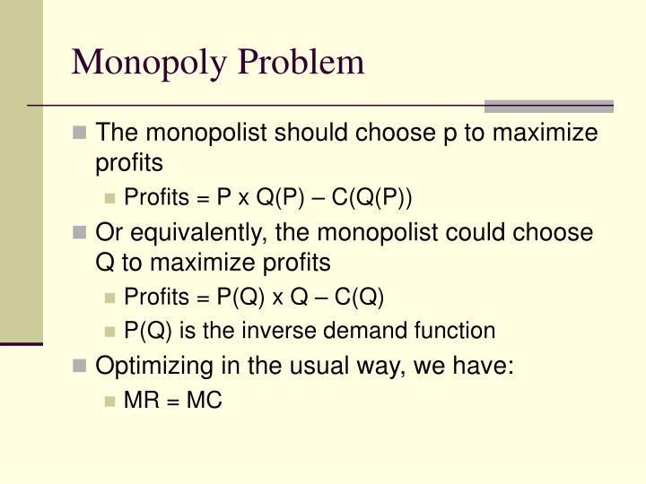 Monopoly Problem
