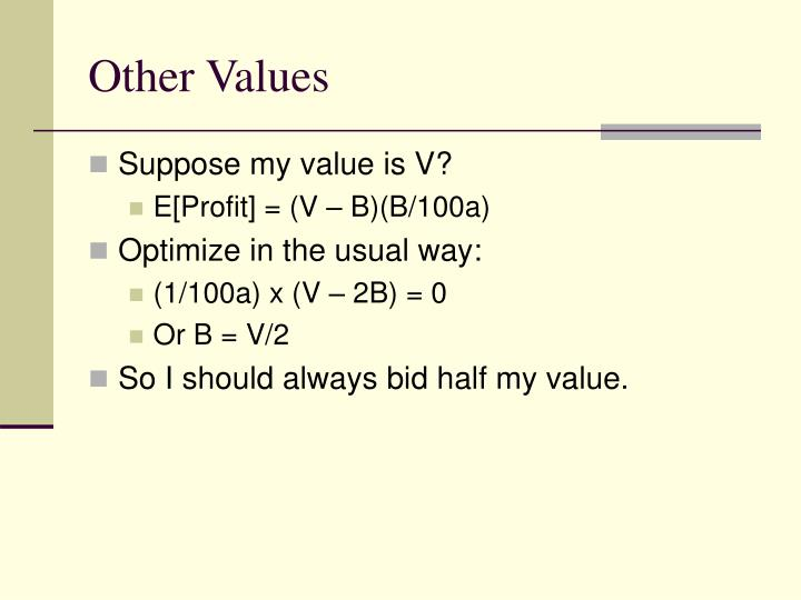 Other Values
