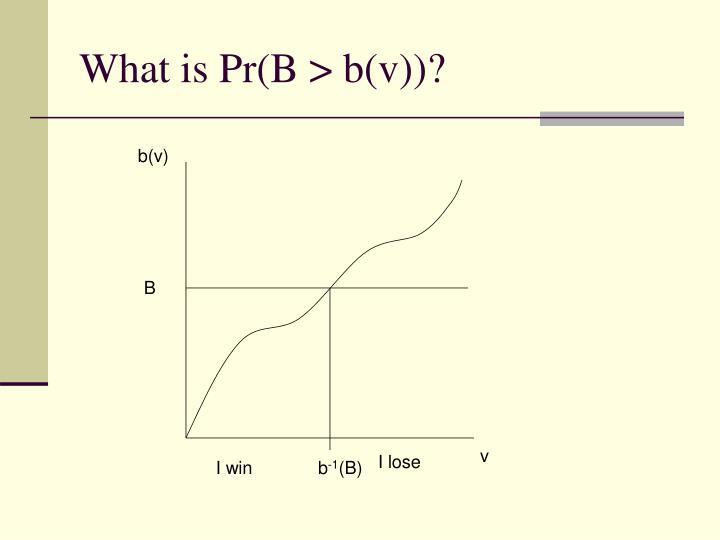 What is Pr(B > b(v))?