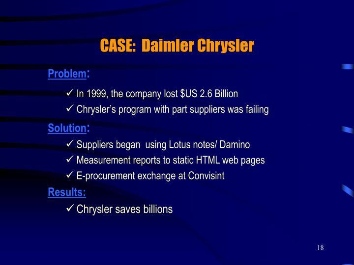 CASE:  Daimler Chrysler